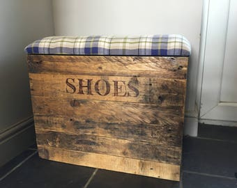 Captivating Shoe Storage, Shoe Bench, Shoe Storage Bench, Shoe Chest, Rustic Wooden  Bench