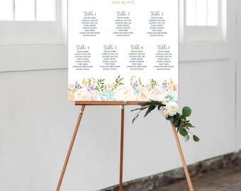 Seating Chart - Garden Dreams (Style 0036)