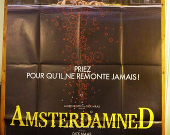 Amsterdamned              Vintage  French Subway Movie Poster