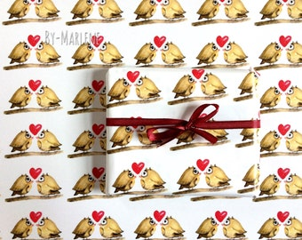 Gift wrapping Paper Owls 42 x59 cm