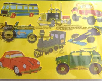 STENCILS with Santa Claus hard plastic - transportation vehicles REF. 425