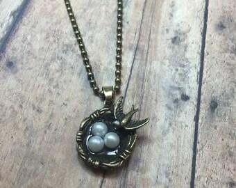 Small,  Bird Nest Necklace