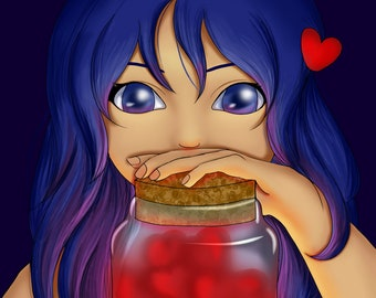 Jar of Hearts Anime Style Digital Painting Prints