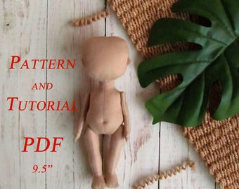 Doll Patterns - Rag Doll Pattern - Doll Pattern - Sewing Patterns - PDF Tutorial - Blank Doll Body - PDF Pattern - Sewing Tutorial