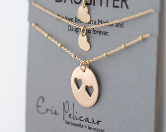 Mother Daughter Gift for Mom Gift Mother Daughter Necklace Sister Gift for Mom Mother of the Bride Mom Birthday Mom Necklace