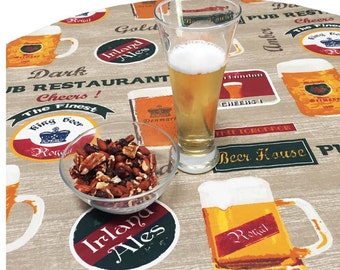 Acrylic Coated Tablecloth Tablecloth, Beer Tablecloth, Pub Tablecloth