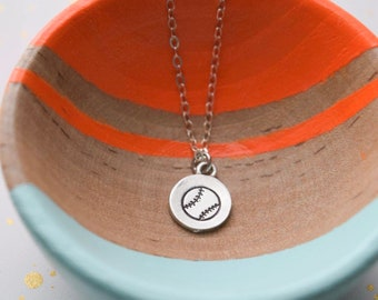 Baseball necklace | hand stamped necklace | birthday gift | layering necklace | gift for her | gift under 30 | softball necklace