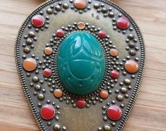 Scarab shield necklace