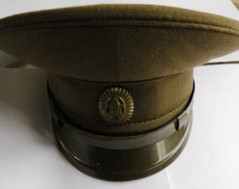 Field peak-cap of the officer of the Soviet army