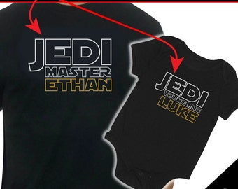 Personalized Jedi / Padawan or Youngling Father/Son Star Wars t-shirt