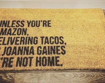 Unless you're amazon - customizable mat - coir mat - farmhouse style mat - welcome mat - front mat