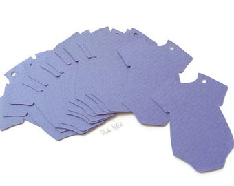 "2.5"" Lavender Baby Onesie Tags, Die cuts, Cut outs - Gift Tags, Favor Tags, Label -Set of 30pcs, 60pcs"