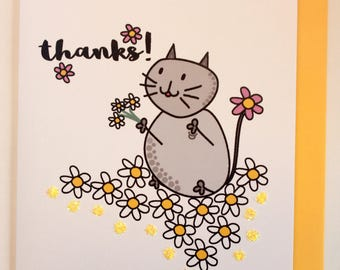 Mia cat Thank You cards - 5 pack
