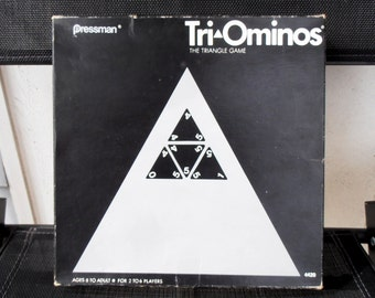 Tri-Ominos The Triangle game - 1968 by Pressman - Tile Game - Triangle Pieces - Multiplayer - COMPLETE