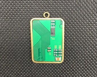 Computer Chip Jewelry Pendant