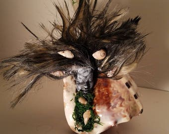 Sea Witch Shelf Decor Siren of Sea / Macabre / Zombie / Haunted House / Halloween / Voodoo / Horror / Mermaid / Creepy Craft Doll