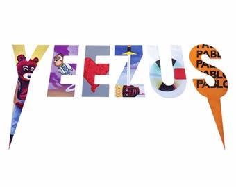 "Kanye West Inspired ""Yeezus"" poster print 13""x19"""