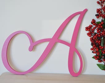 Single Wooden Letter, Wooden Letter, Painted Wooden Letter, Wooden Letter Cut Out, Birthday Gift, Wall Hanging, Nursery, Kids Room, Wall Art