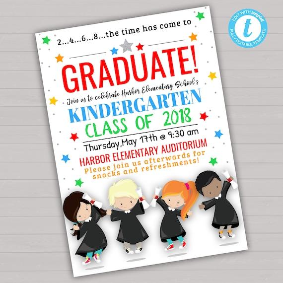 Kindergarten Graduation Invitation Kindergarten Graduation
