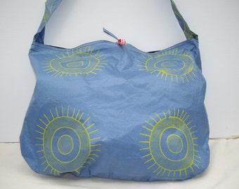 Versatile Hobo Bag, Blue & Yellow