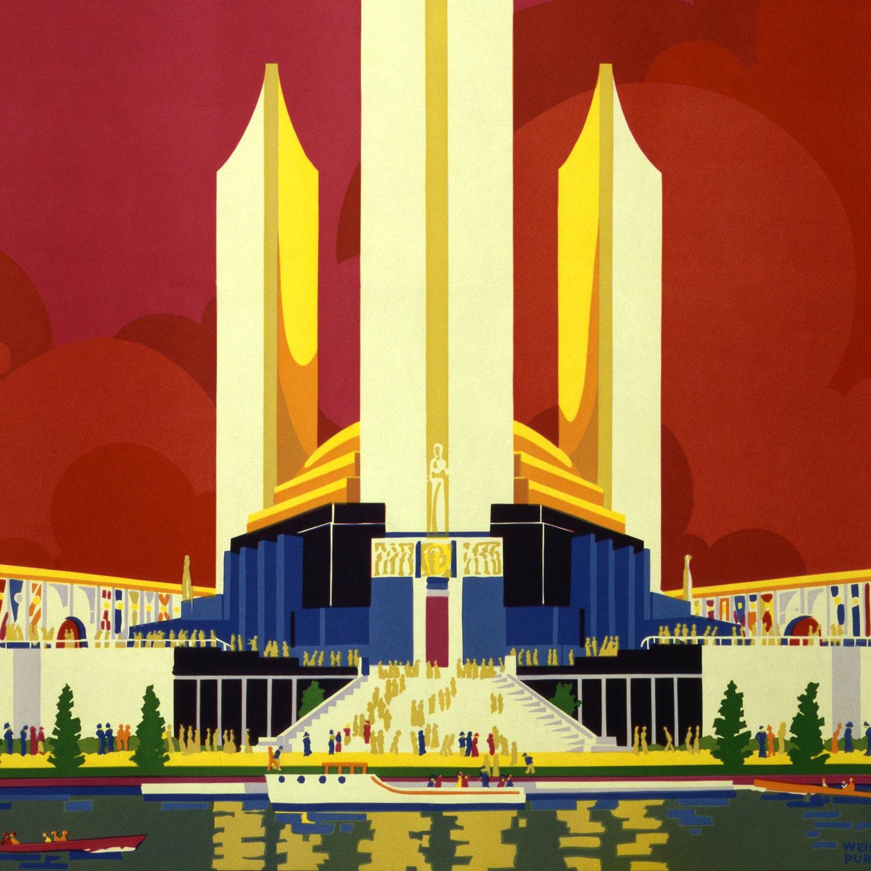 Chicago Worlds Fair Poster 1933 - Vintage Chicago Art Prints - Windy ...