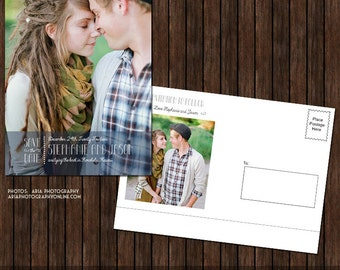 5x7 Save the Date Postcard Template - S29
