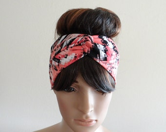 Printed Head Wrap.Printed Headband