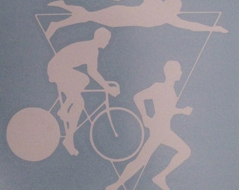 Triathlon Decal