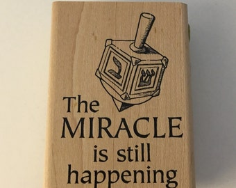 Inkado Wood Mounted Rubber Stamp The Miracle is still happening