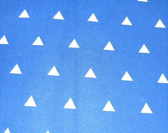 White Triangles on Blue Background