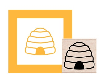 Bee Hive Rubber Stamp