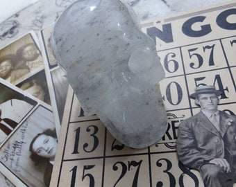 Clear Crystal Quartz Skull with Clorite inclusions