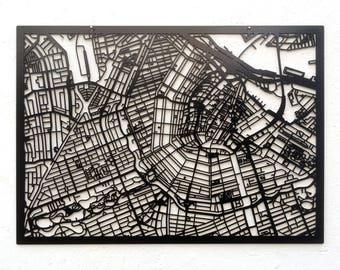 3d City Map Amsterdam, 59x42cm (73x53cm)