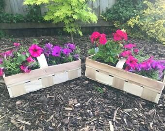 Woven Handmade Flower Baskets Ideal for gardens, window boxes, herbs etc...x 1
