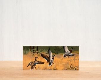 Paint by Number Art Block 'Duck Hunting' - marsh, outdoors, hunting, mallard ducks