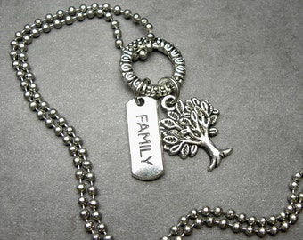 Genealogy Family Tree Charm Necklace or Key Chain Keychain, Memories, Family History, LDS, Genealogist