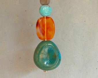 Light Pull Cord Beads Bathroom Ceramic Beads