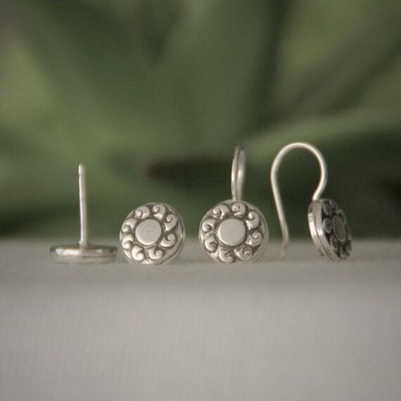 Sun Earrings Sun Stud Earrings Sun Dangle Earrings Sterling