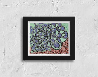 """Optical Illusion Art Print, Digital Print, Abstract Art, Funky Home Decor, Modern - """"You Ignore It and It Only Gets Worse"""""""