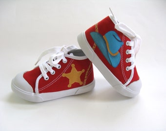 Cowboy Hat Shoes, Red Hi Top Sneaker, Western Theme Party, Cowboy Costume,