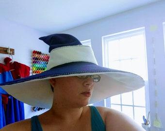 Bi-Color Wool Blend Wizarding Hat