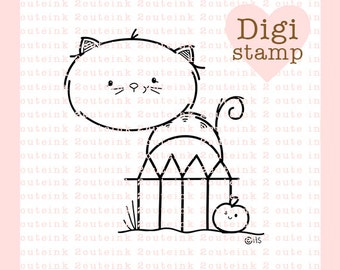Black Cat Digital Stamp for Card Making, Paper Crafts, Scrapbooking, Hand Embroidery, Invitations, Stickers, Coloring Pages, Halloween