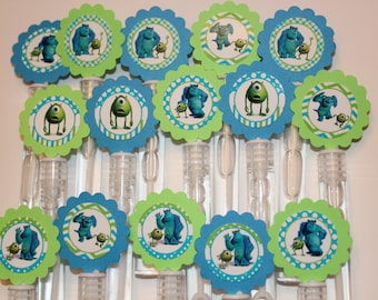 Monsters Mini Bubble Wand Birthday party favors - set of 15