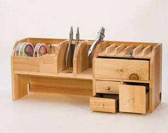 Bench Top Tool Organizer for Pliers, Wire, Beads & Craft Items