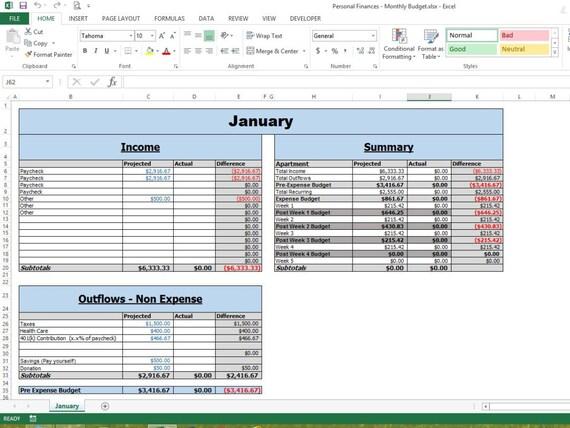 Ziemlich Monatliches Budget Arbeitsblatt Vorlage Fotos ...