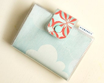 Bifold Snap Wallet - Clouds
