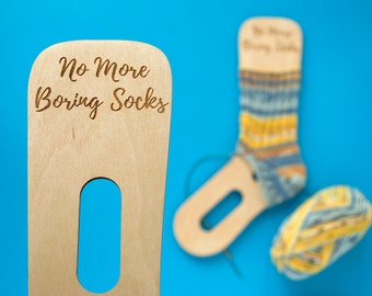 Sock Blockers Gift idea for knitter Wooden sock blockers, knitting tool, sock dryer with engraving - No More Boring Socks