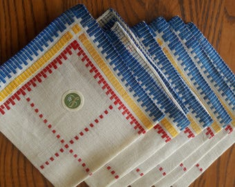 VINTAGE EMBROIDERED NAPKINS Set of 6