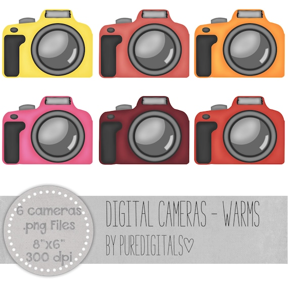 Camera Clip Art Camera PNG Digital Scrapbooking Photography