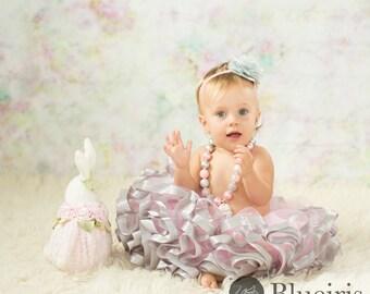Ribbon Tutu, Silver Pink Tutu Skirt, Birthday Tutu, Birthday Outfit, Baby Tutu, Cake Smash Tutu, Baby Girls Tutu, Pink Tutus, Toddler Tutu